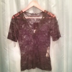 Lace sexy top Zara basic collection size M